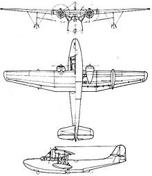 Plan 3 vues du Aichi H9A