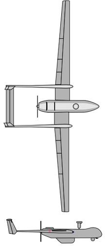 Plan 3 vues du EADS Harfang