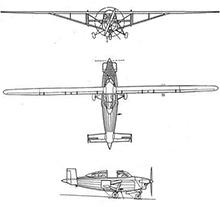 Plan 3 vues du Hurel-Dubois HD.10