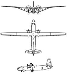 Plan 3 vues du Hurel-Dubois HD.31/32/34