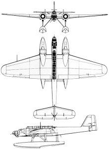 Plan 3 vues du Heinkel He 115