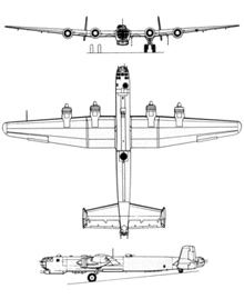 Plan 3 vues du Heinkel He 274