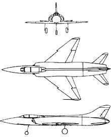 Plan 3 vues du HAL HF-24 Marut