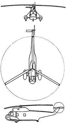 Plan 3 vues du Sikorsky HH-52 Seaguard