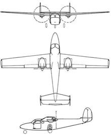 Plan 3 vues du DINFIA IA 45 Querandi