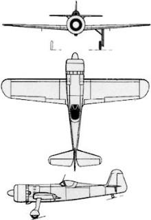 Plan 3 vues du I.A.R. IAR-80