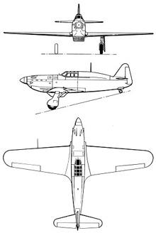 Plan 3 vues du Rogozarski IK-3