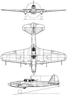 Plan 3 vues du Ilyushin Il-2 Sturmovik