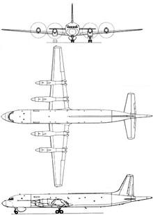 Plan 3 vues du Ilyushin Il-38  'May'