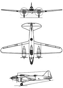 Plan 3 vues du Ilyushin DB-3/Il-4  'Bob'