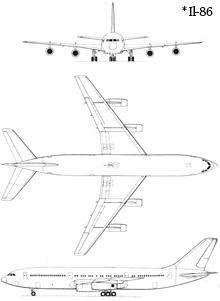 Plan 3 vues du Ilyushin Il-87 'Maxdome'