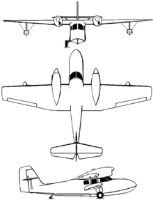 Plan 3 vues du Grumman J4F Widgeon