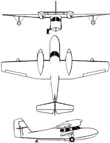 Plan 3 vues du Grumman J4F Widgeon