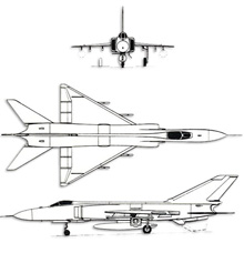 Plan 3 vues du Shenyang J-8 'Finback'