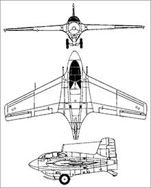 Plan 3 vues du Mitsubishi J8M / Ki-200 Shusui