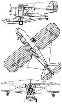 Plan 3 vues du Grumman JF/J2F Duck