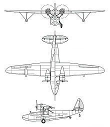 Plan 3 vues du Sikorsky JRS Baby Clipper