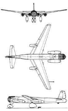 Plan 3 vues du Junkers Ju 287