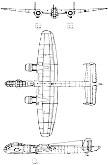 Plan 3 vues du Junkers Ju 288