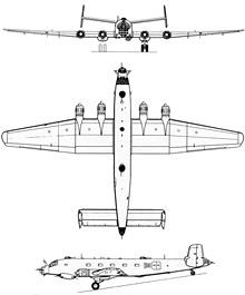 Plan 3 vues du Junkers Ju 290