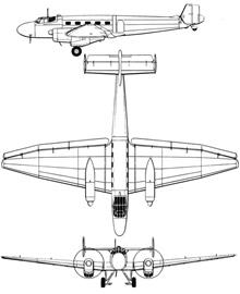 Plan 3 vues du Junkers Ju 86