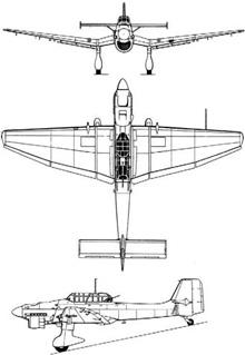 Plan 3 vues du Junkers Ju 87 Stuka