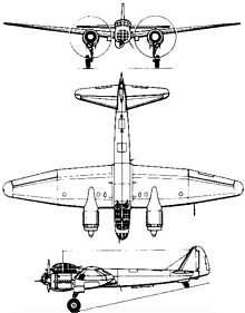 Plan 3 vues du Junkers Ju 88
