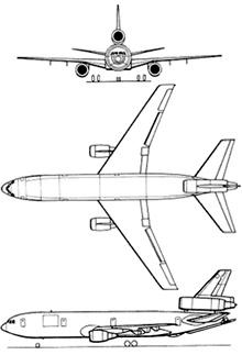 Plan 3 vues du Douglas KC-10 Extender