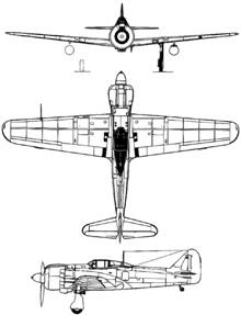 Plan 3 vues du Kawasaki Ki-100