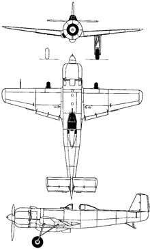 Plan 3 vues du Nakajima Ki.115 Tsurugi