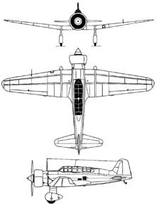 Plan 3 vues du Mitsubishi Ki-15/C5M Karigane 'Babs'