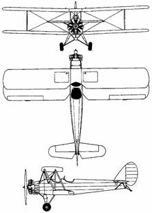 Plan 3 vues du Tachikawa Ki-17 Cedar
