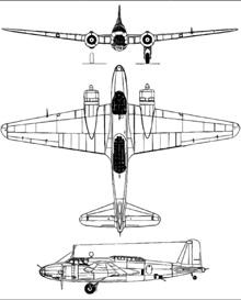 Plan 3 vues du Mitsubishi Ki-21  'Sally'