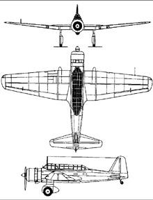 Plan 3 vues du Mitsubishi Ki-30  'Ann'