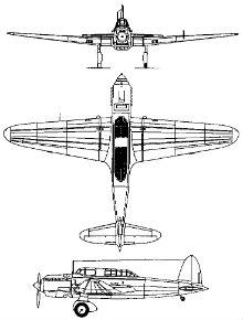 Plan 3 vues du Kawasaki Ki-32 'Mary'