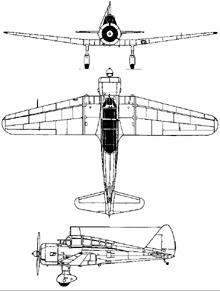 Plan 3 vues du Tachikawa Ki-36  'Ida'