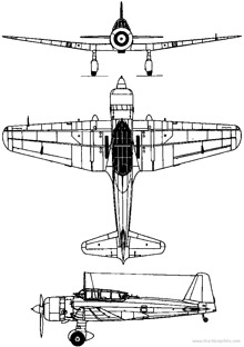 Plan 3 vues du Mitsubishi Ki-51 'Sonia'