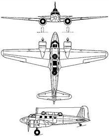 Plan 3 vues du Tachikawa Ki-54  'Hickory'