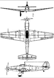 Plan 3 vues du Kawasaki Ki-64  'Rob'