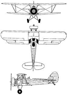 Plan 3 vues du Tachikawa Ki-9 'Spruce'