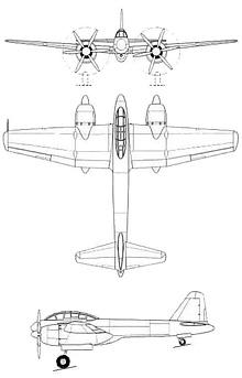 Plan 3 vues du Rikugun Ki-93
