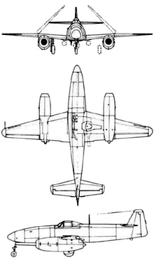Plan 3 vues du Nakajima  Kikka