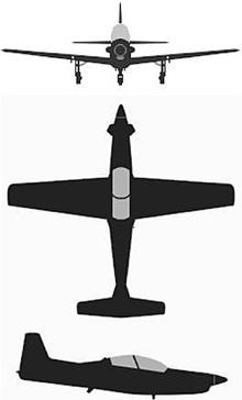 Plan 3 vues du KAI KT-1/KA-1 Woongbee