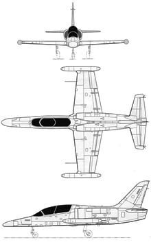 Plan 3 vues du Aero L-159 ALCA