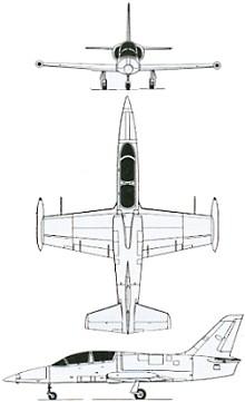 Plan 3 vues du Aero L-39 Albatros
