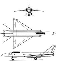 Plan 3 vues du Lavotchkin La-250 Anaconda