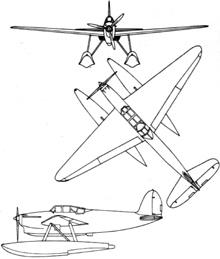 Plan 3 vues du Latécoère L.298