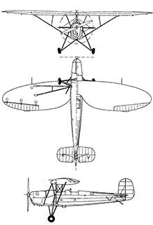 Plan 3 vues du Repülőgépgyár Levente II