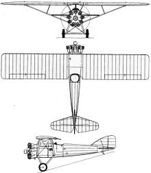Plan 3 vues du Gourdou-Leseurre LGL.32