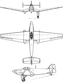 Plan 3 vues du Loire-Nieuport LN.401/411